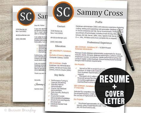 designer resume template cover letter by businessbranding