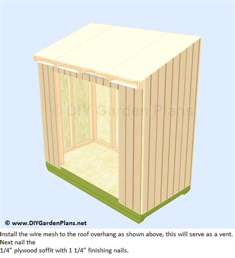 Lean To Shed Plans by How To Cut And Install The Lean To Shed Trim And Soffit