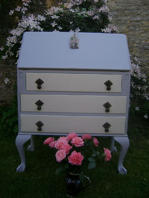 autentico chalk paint vanilla style writing bureau painted in autentico vintage