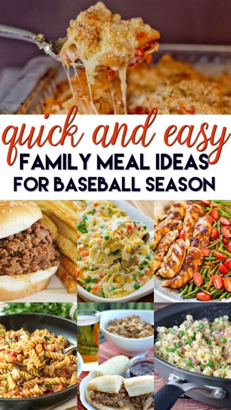 Easy Family and easy family meal ideas for baseball season a