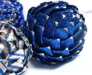 items similar to unique christmas ornament in blue and