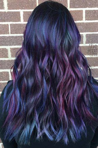 new hair styles with oil and water hair styles ideas try rainbow hair that is rich dark