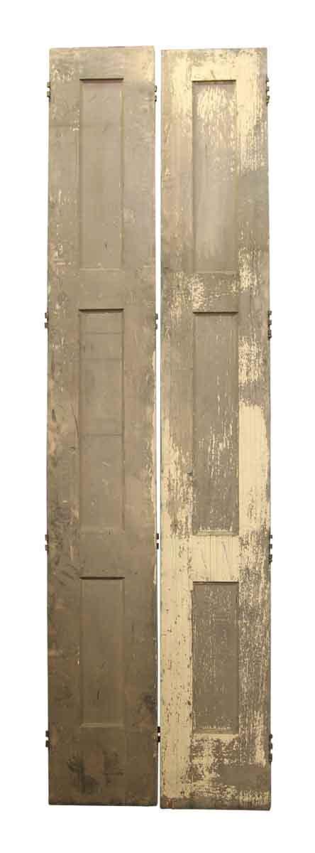 antique interior doors antique narrow doors with ironwork pair of narrow doors with three panels olde things