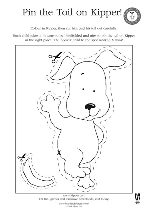 pin the tail on kipper scholastic book club