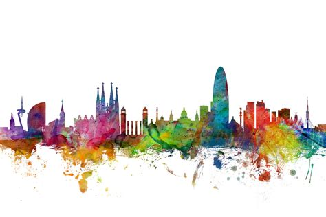 barcelona skyline wall mural amp photo wallpaper photowall