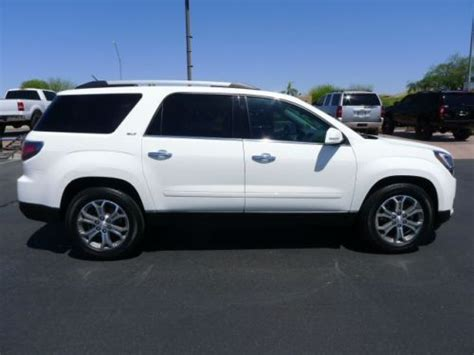 gmc acadia with captains chairs purchase used 2014 gmc acadia slt awd captains chairs used