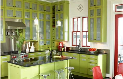 Lime Green Kitchen Cabinets Kitchen Cabinets Lime Green And Black Hi Gloss Kitchen