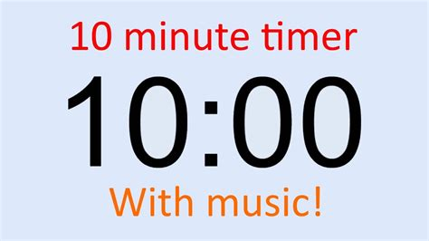 timer 10 mintues 10 minute timer with