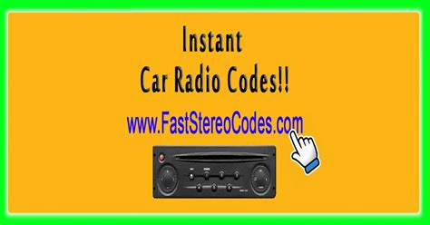 how to get radio code for ford fast stereo codes the fastest and cheapest car radio