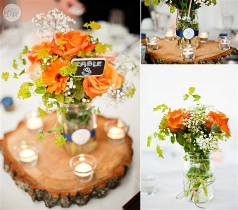 i like the tree stump centerpieces i m gonna get