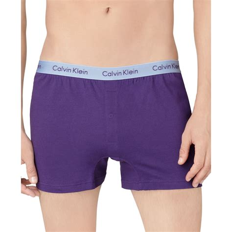 calvin klein knit boxers calvin klein slim fit knit boxer in purple for