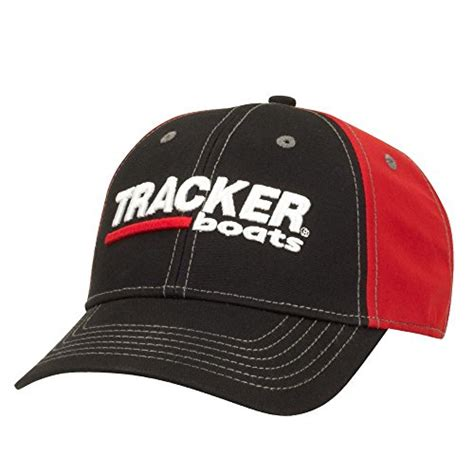 tracker boats clothing tracker tracker boats red black pro style structured cap
