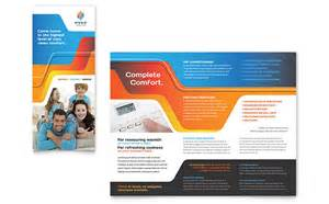 template of brochure hvac brochure template design