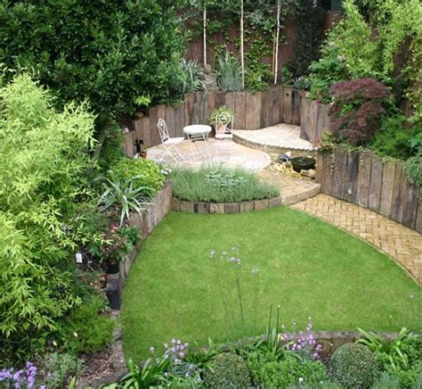 small gardens landscaping ideas 64 best garden beams railway sleepers images on