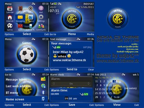inter milan nokia c3 theme