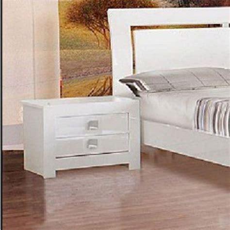 Bedroom Furniture Bedside Cabinets Omega White High Gloss Bedside Cabinet White Gloss