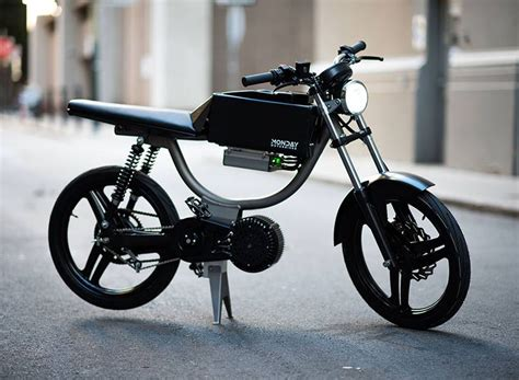 monday motorbikes    minimalist  bike built  city