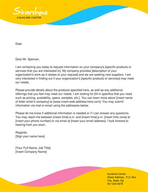 letterhead template created youzign childcare