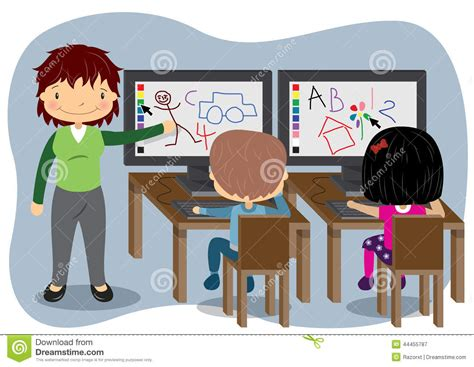 teaching computers stock vector image 44455787