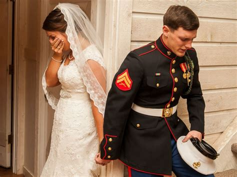 Turned Away By Marines by Photo Of Marine Praying With To Be Goes Viral Abc News