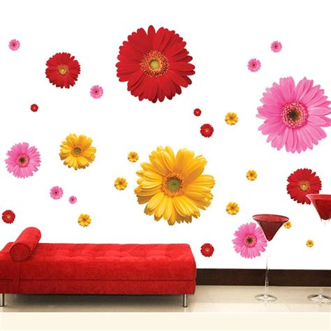 floral wall stickers colorful flower floral wall stickers living room bedroom