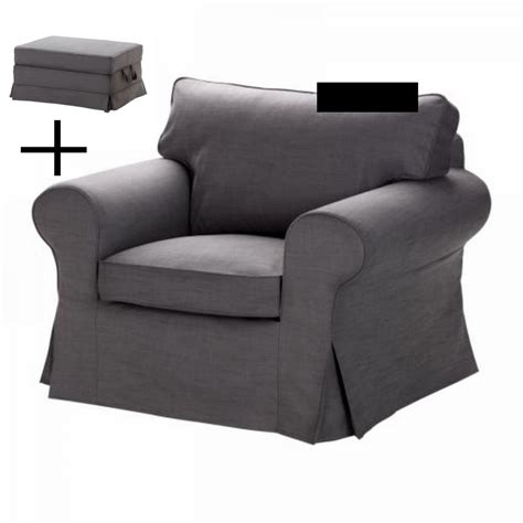 Chair And Ottoman Cover ikea ektorp armchair and bromma footstool cover chair ottoman slipcover svanby gray grey