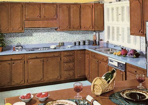 wood kitchen cabinets in the 1950s and 1960s quot unitized decorating a 1960s kitchen 21 photos with even more