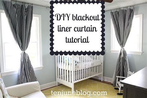 Nursery Curtains With Blackout Lining Diy Blackout Liner Panel Curtain Tutorial How To Make Awesome Nursery Curtains Soft