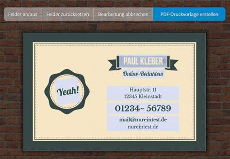 Visitenkarten Programm Kostenlos by Visitenkarten Drucken Freeware De