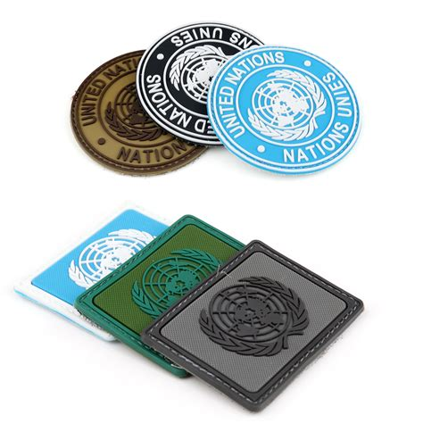 Rubber Patch Un United Nations un united nations u n badge pvc tactical army airsoft
