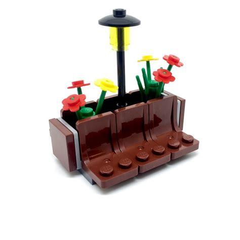 flower pot bench lego plant pot seats park bench signature bricks