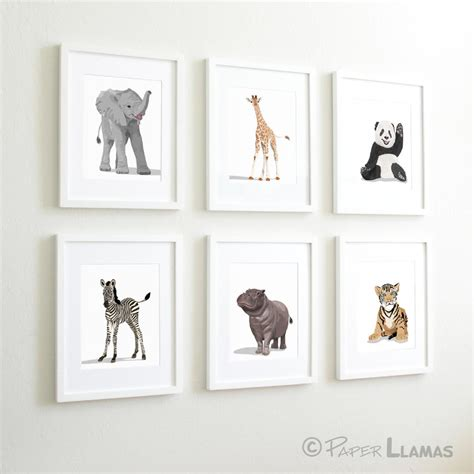 Animal Nursery Decor Baby Animal Nursery Modern Minimalist Nursery By Paperllamas