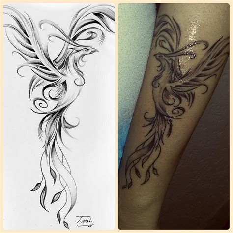 phoenix rising from ashes tattoo designs best 25 rising ideas on