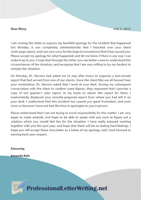 Explanation Letter For Error Apology Letter For Mistake Image Titled Write An Apology Letter Step 9 How To Write An Apology