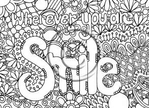 printable abstract coloring pages free abstract words coloring pages