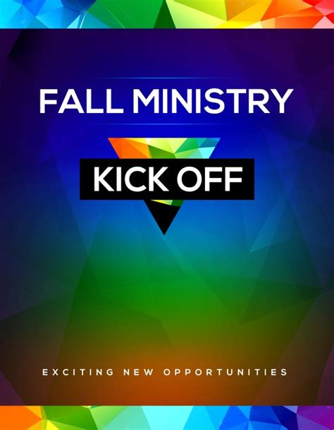 Fall Ministry Kick Off Church Flyer Template Template Flyer Templates Kicks Flyer Template 2