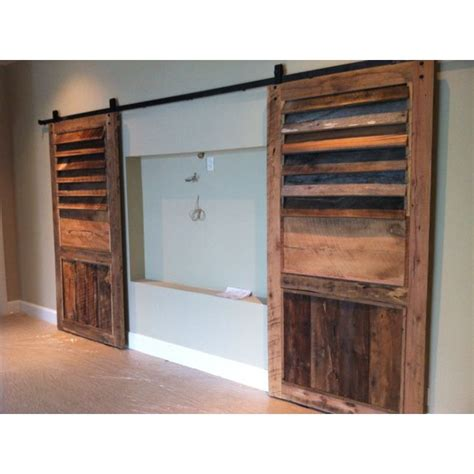 Barn Doors To Cover Tv Wall Nook Todd Manring Designs Barn Door Wall