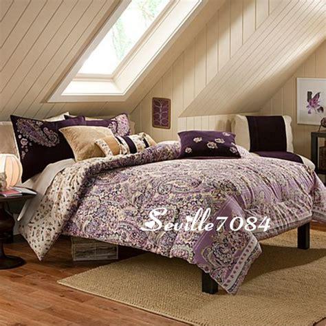 purple paisley bedding 11p twin paisley comforter quilt purple pink brown new ebay