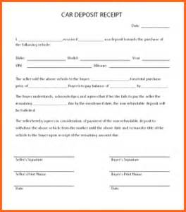 Budget Car Rental Forms Of Payment 11 Car Deposit Form Budget Template Letter
