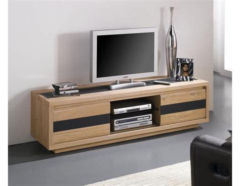 Meuble Tv Bois Massif Contemporain ? Mzaol.com