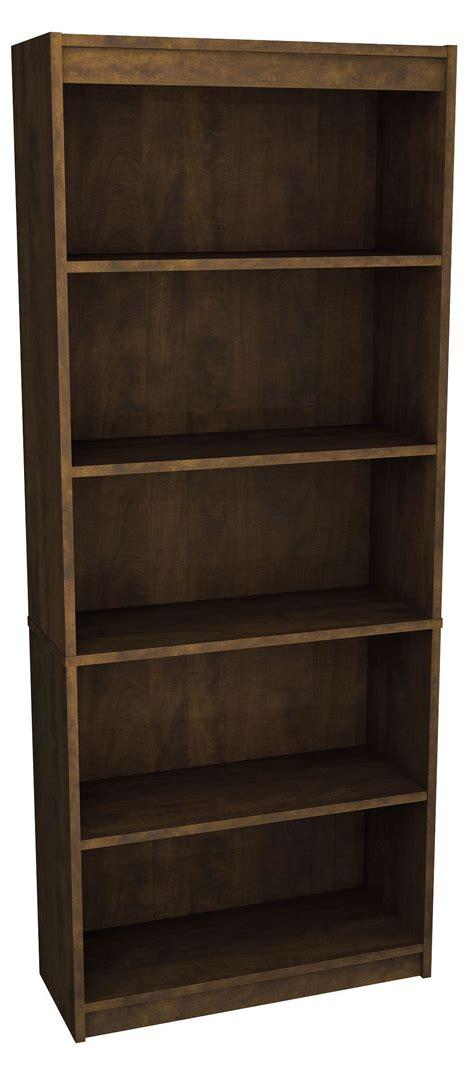 chocolate standard bookcase from bestar 65715 3169
