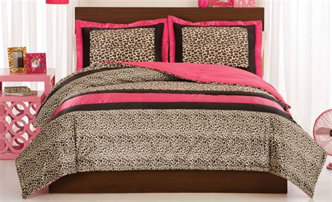 cheetah bed set leopard full queen or twin comforter with shams