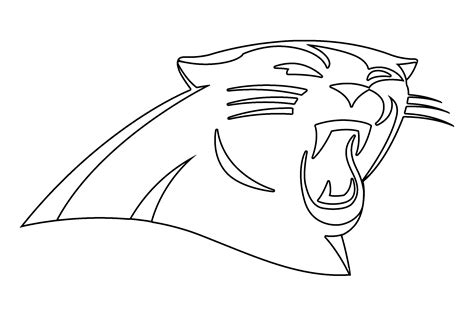 carolina panthers coloring pages carolina panthers coloring pages learny