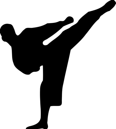 free silhouette images karate silhouette free vector 4vector