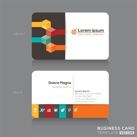 company id card design vector business cards vector designs