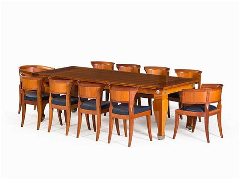 Giorgetti Berlin by L 233 On Krier Dining Table With 10 Chairs Giorgetti Italy 1