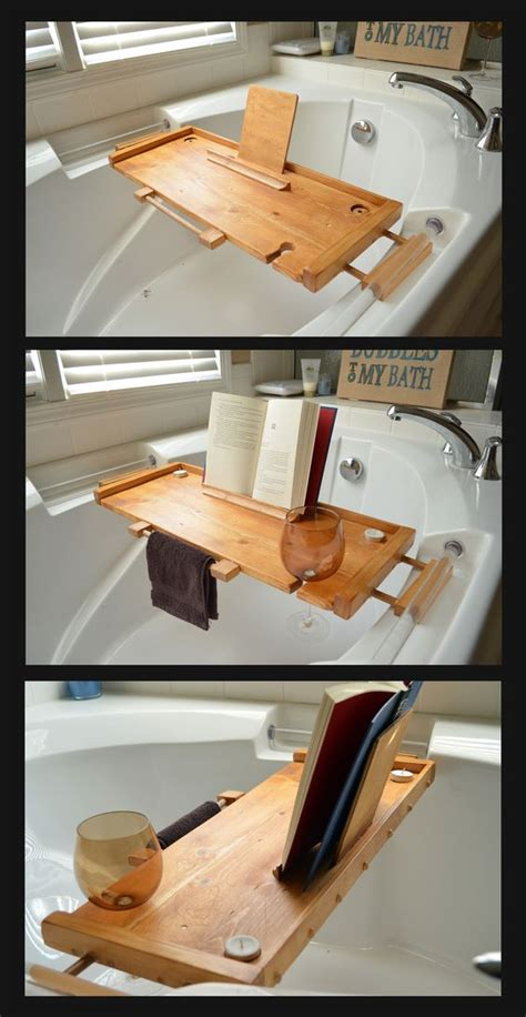 bathtub wine and book holder bathtub caddy i made for my wife it has a hand towel