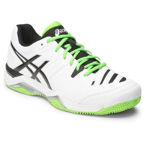 asics gel challenger 10 clay mens tennis shoes white