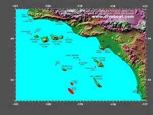 map of the california channel islands destinations of
