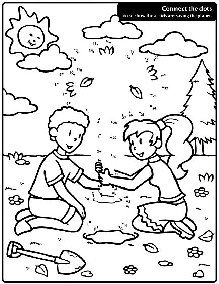 dot to dot printables earth day connect the dots on this earth day coloring page to see